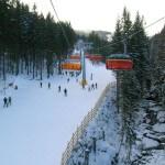 Widok z kanapy Winterpol na stok