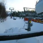 Stojąc w kolejce do wyciągu Winterpol w Karpaczu